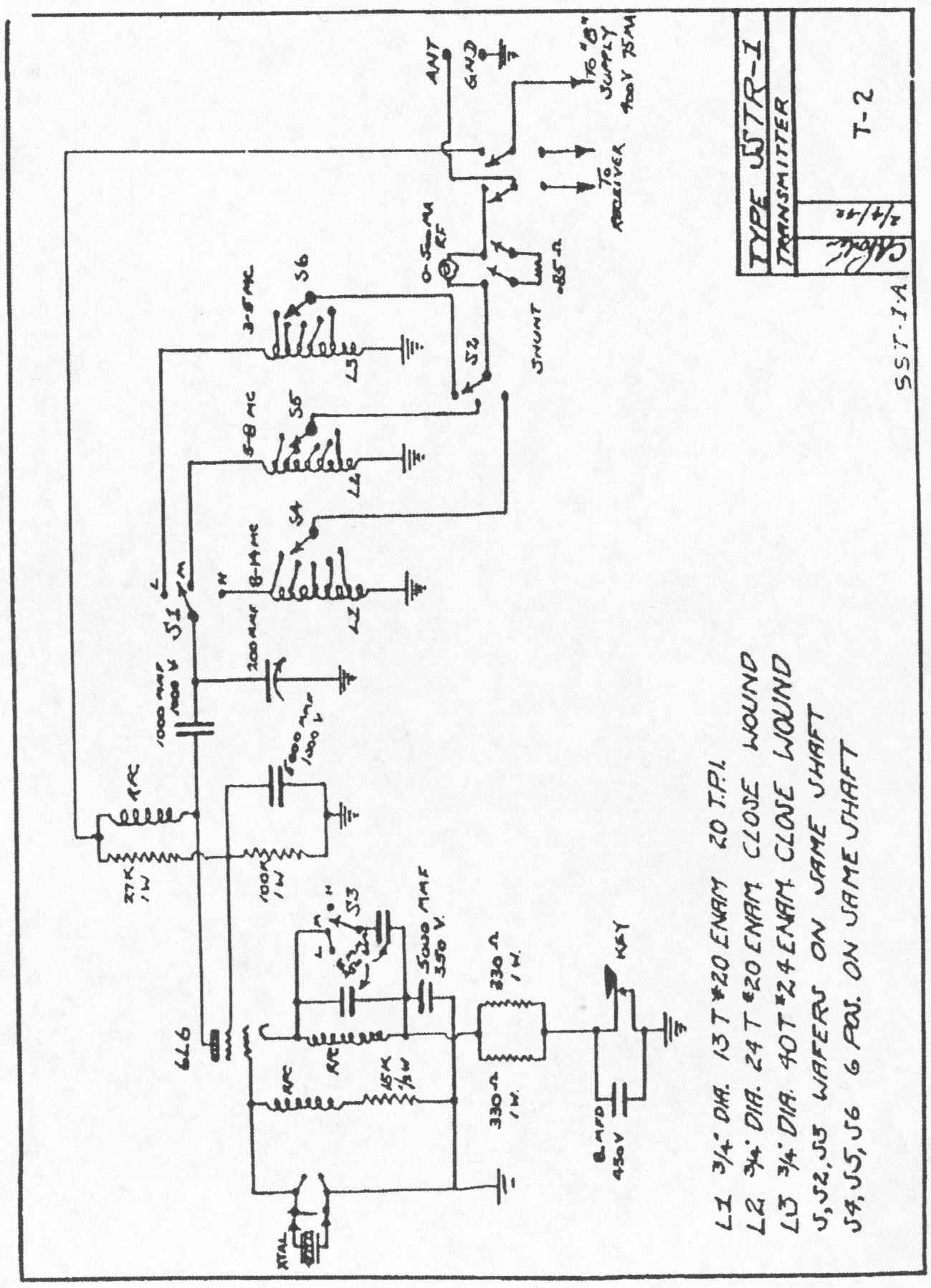sstr radio set sst 1 schematic